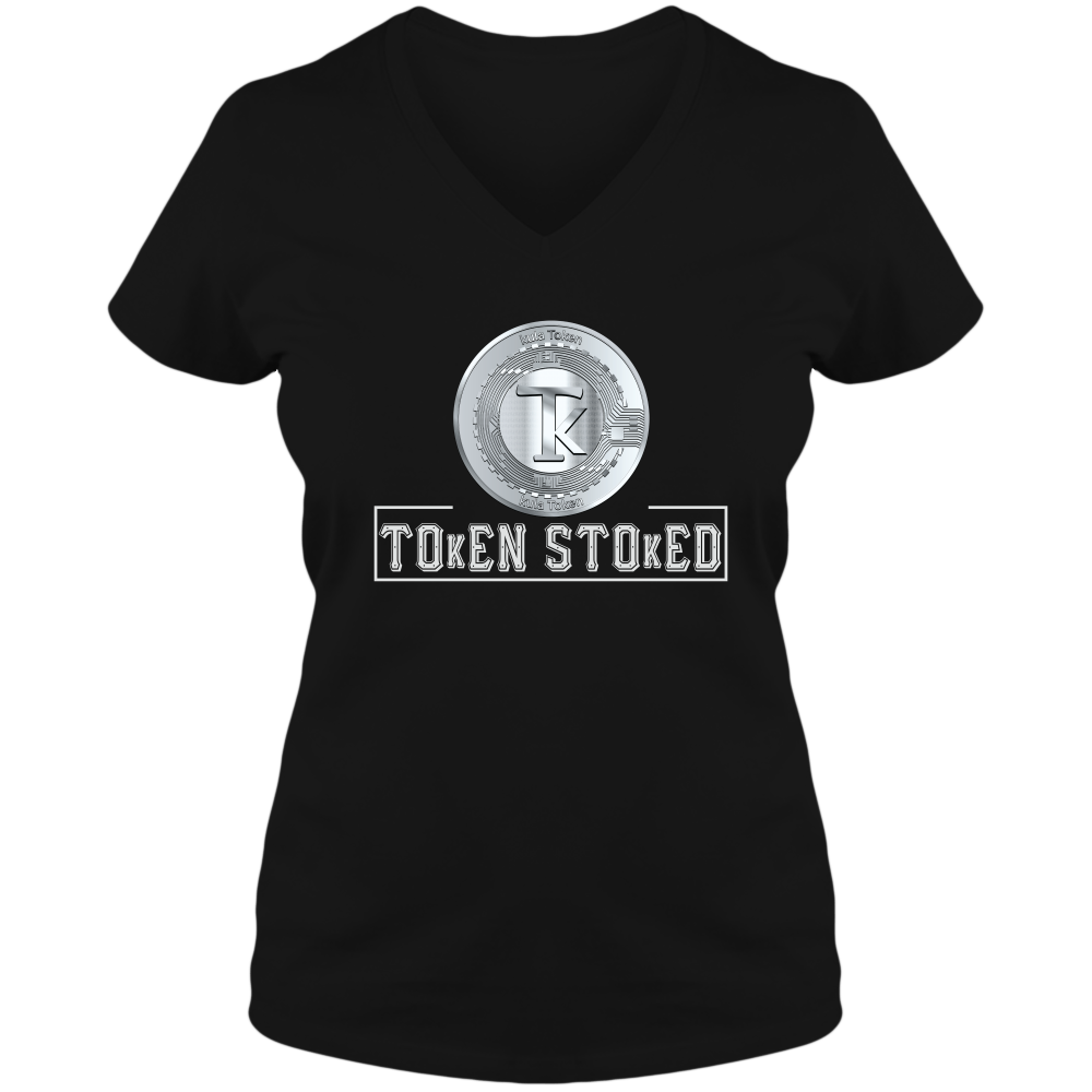 Tokenomics - Token Stoked - Adult Ladies V-Neck Tee