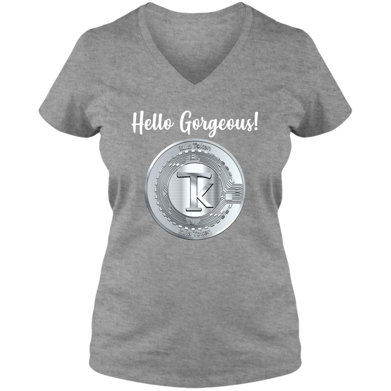 Tokenomics - Hello Gorgeous - Adult Ladies V-Neck Tee