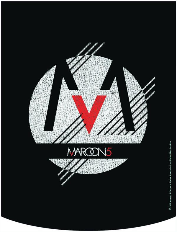 Maroon 5 Blue Logo Backpack Face Panel