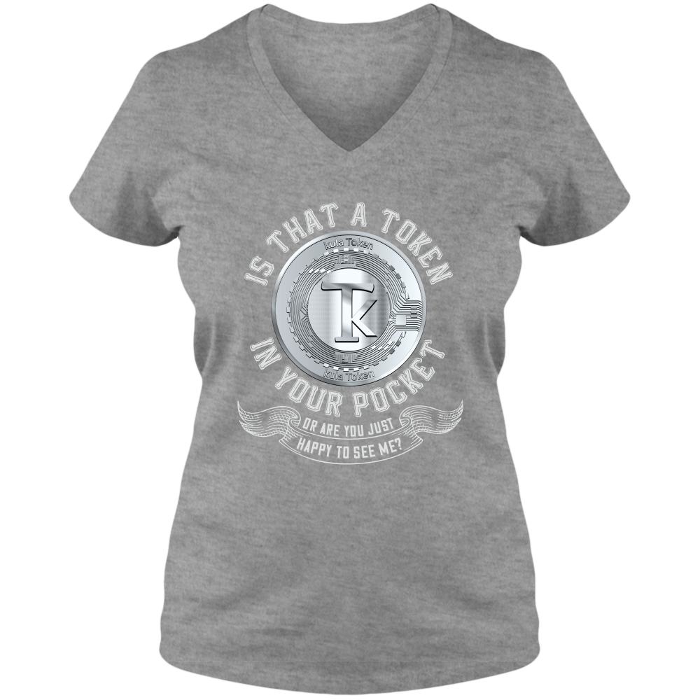 Tokenomics - A Token in your Pocket - Adult Ladies V-Neck Tee
