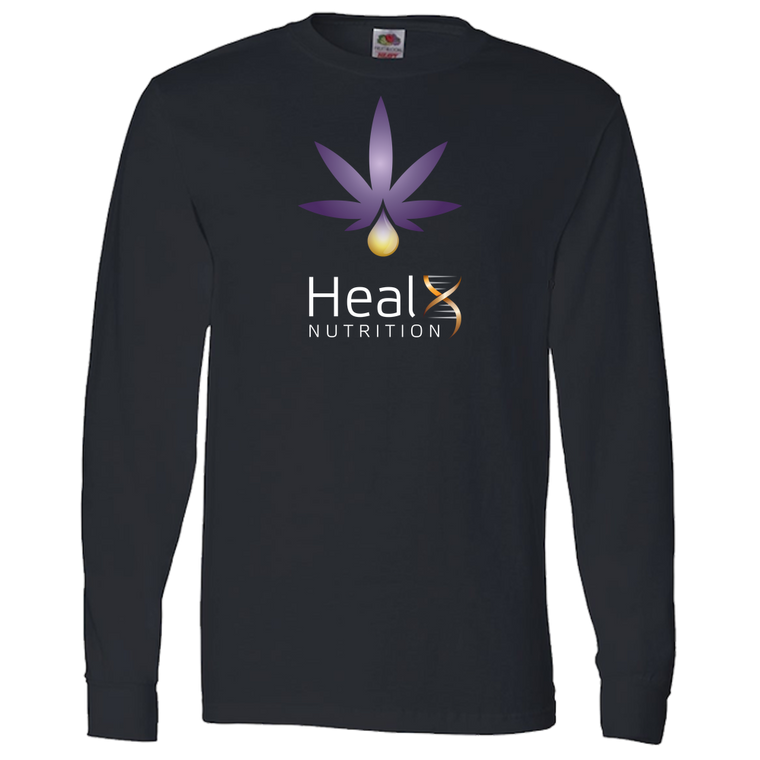 HealX Black & Purple - Adult Long Sleeve Tee