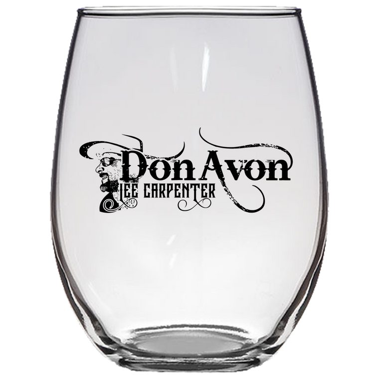 DLC - Stemless Wine Glass Laser Etched