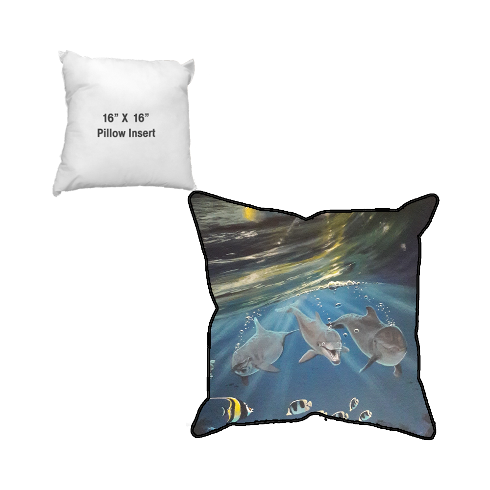 WAJ Sunset Smiles Sublimated Pillow Case and Pillow Insert