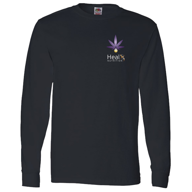 HealX Black & Purple Crest  - Adult Long Sleeve Tee