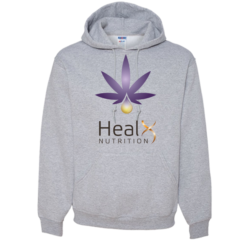HealX Heather Grey & Purple - Adult Hoodie