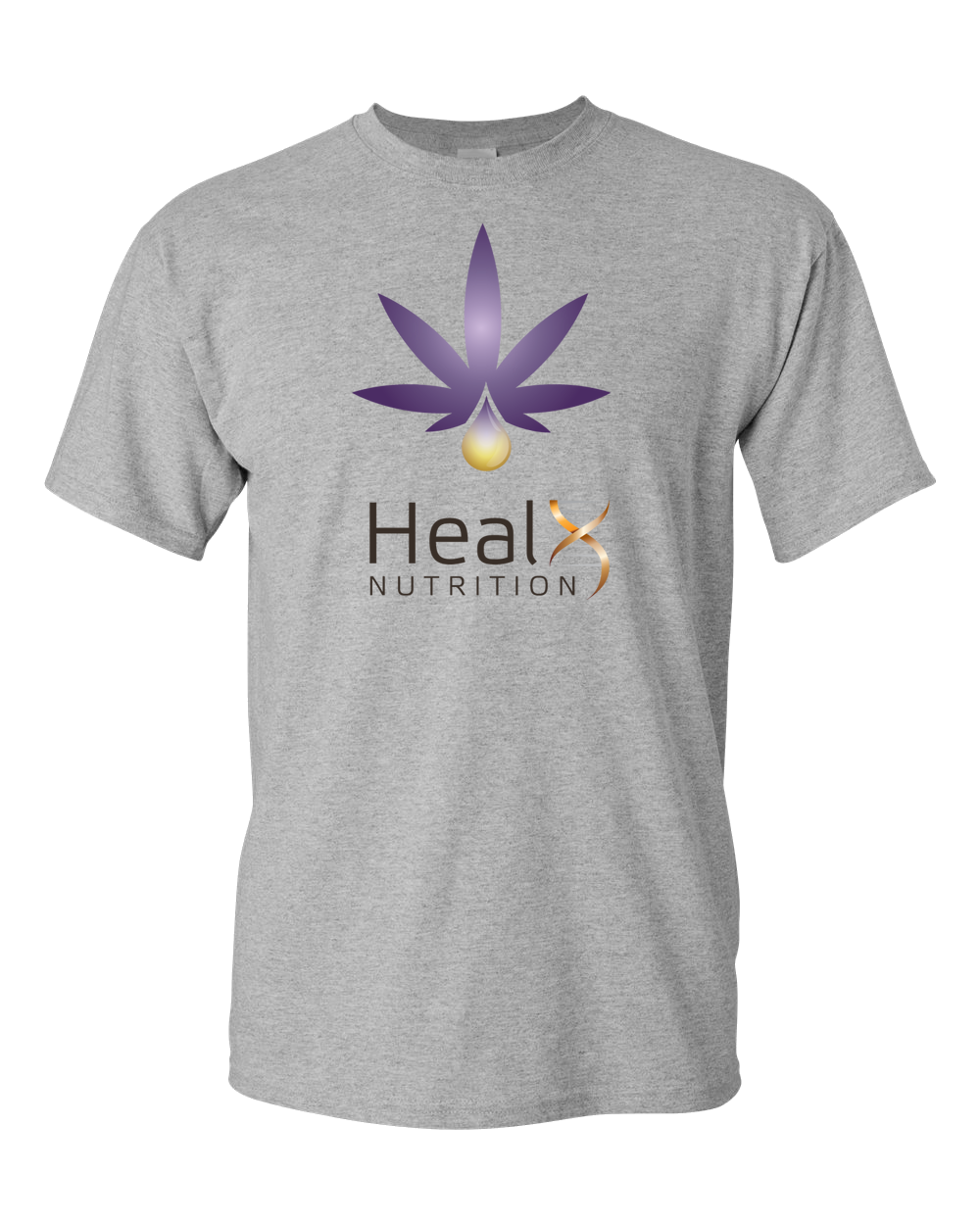 HealX Heather Grey & Purple - Adult Unisex T-Shirt
