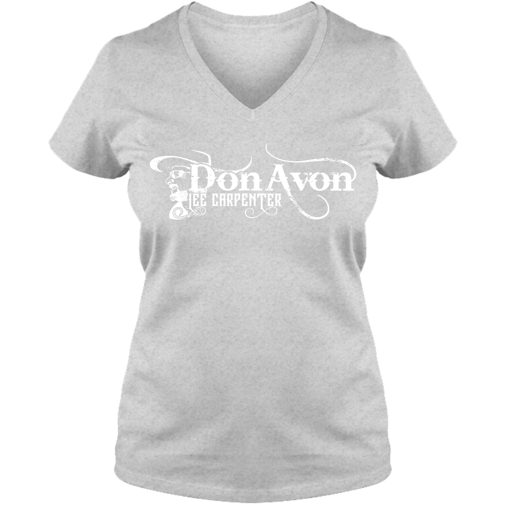 DLC LOGO-Adult Ladies V Neck Tee - Colors