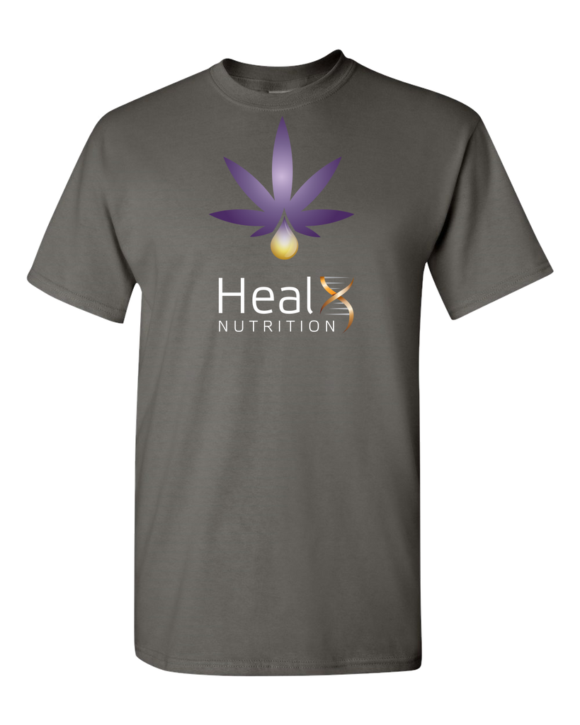 HealX Charcoal Grey & Purple  - Adult Unisex T-Shirt