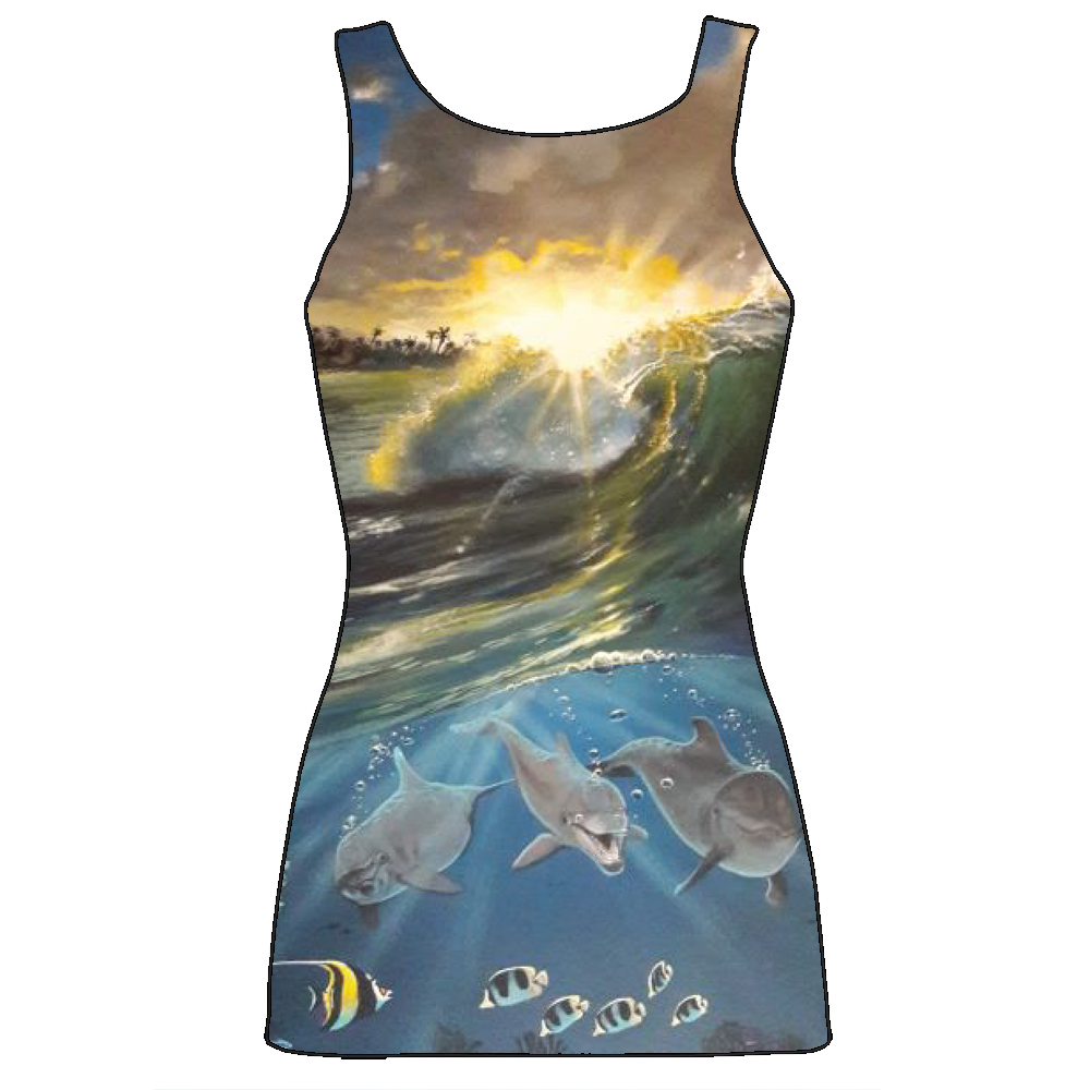 WAJ Sunset Smiles Sublimated Ladies Tanks