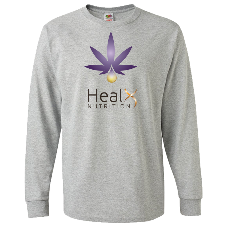 HealX Heather Grey & Purple - Adult Long Sleeve Tee