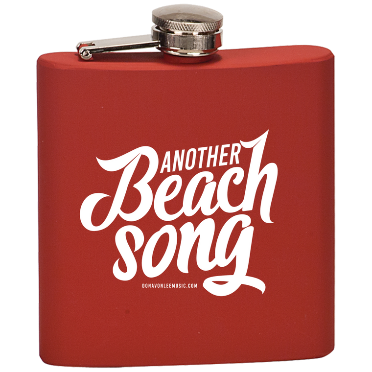 DLC - Beach Song Flask  Laser Etched No Colored Art
