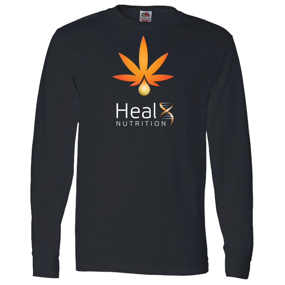 HealX Black & Orange - Adult Long Sleeve Tee
