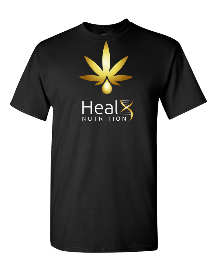 HealX Black & Gold  - Adult Unisex T-Shirt