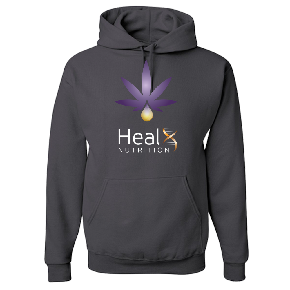 HealX Charcoal Grey & Purple - Adult Hoodie