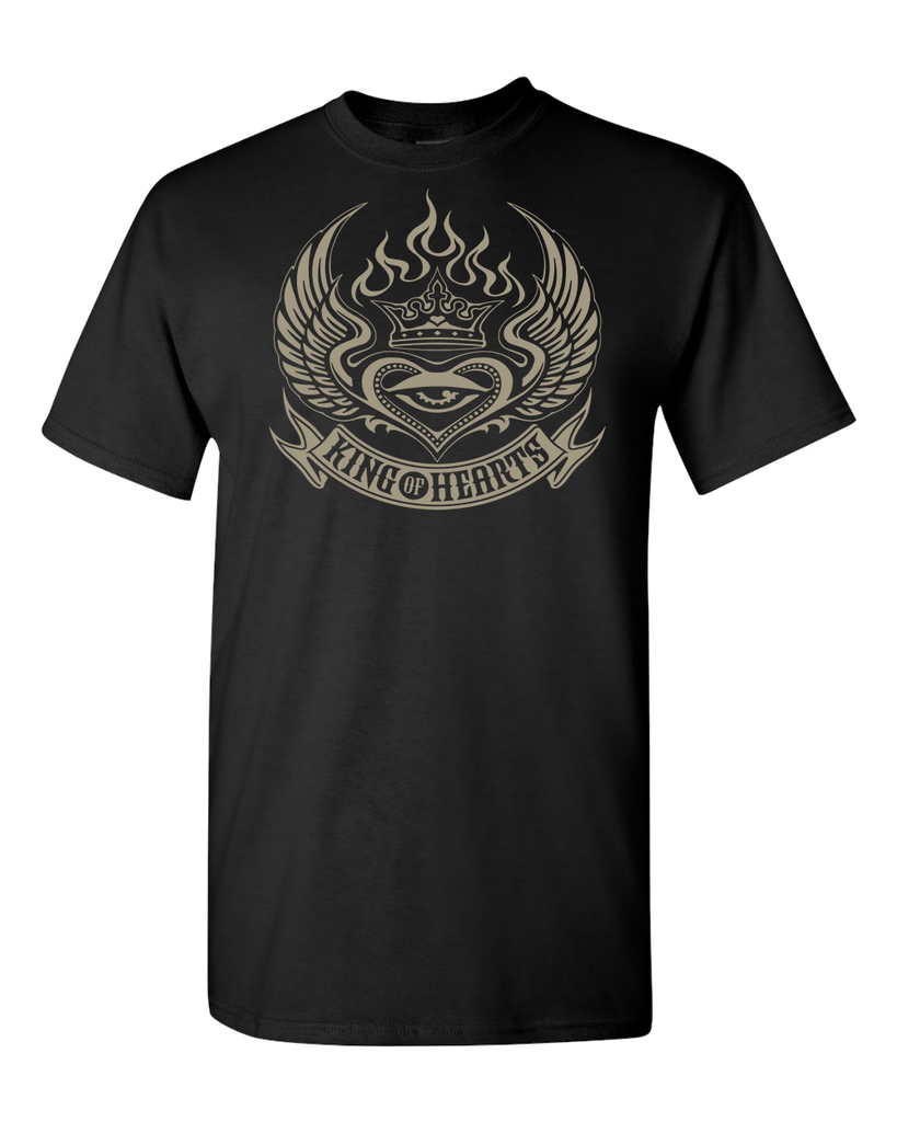 King of Hearts Gold Adult Unisex Tee