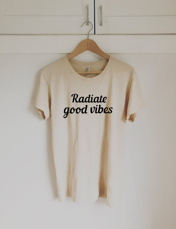 Good Vibes Tee Natural (Adults)
