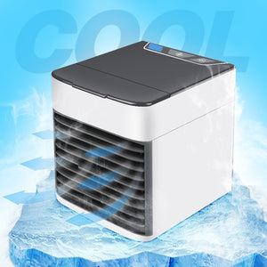 USB Mini Portable Air Conditioner Air Cooler Humidifier Purifier LED Light Personal Space Fan Air Cooling Fan