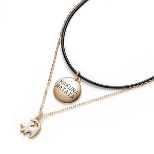 Hakuna Matata Necklace with Choker Offer