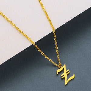 Custom Initial Pendant Necklace Offer