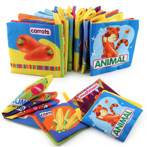 8 Pages Baby Soft Animal Cloth Book Offer