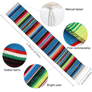 Mexican Party Serape Cotton Table Runners Offer