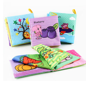 Baby Rattles Soft Animal Cloth Book Offer