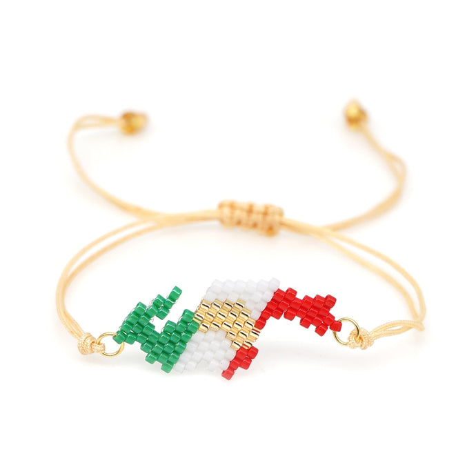Mexican National Flag Pattern Bracelet Offer