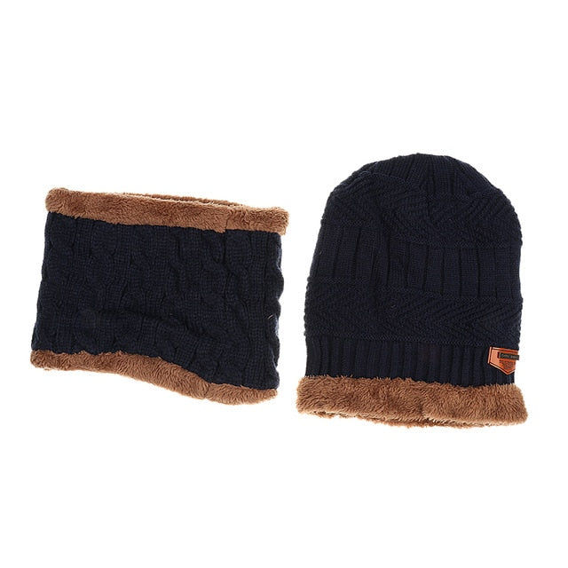 Reversible Beanie Knit Ski Cap and Neck Warmer Offer