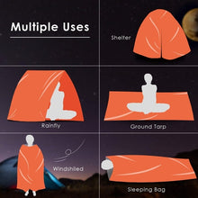 Load image into Gallery viewer, Outdoor  Life Bivy Emergency Sleeping Bag Thermal Keep Warm Waterproof Mylar First Aid Emergency Blanke Camping Survival Gear