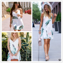 Load image into Gallery viewer, Tropical Leaf Summer Dress