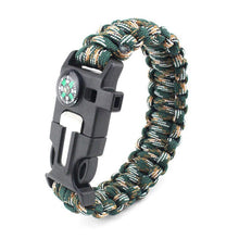 Load image into Gallery viewer, Paracord Survival Bracelet