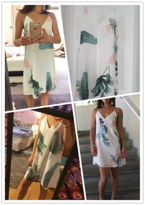 Tropical Leaf Summer Dress