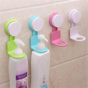 Strong Non Trace Chuck Muurbevestiging Bathroom Shampoo Bottle of Liquid Soap Shelf Holder Simple and Practical