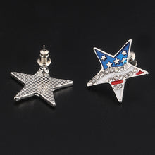 Load image into Gallery viewer, Honor Fallen Heroes American Star Earrings - $1 given to assist families of fallen heroes