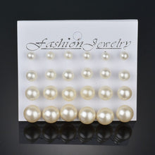Load image into Gallery viewer, Simulated Pearl Earrings 12pairs/set Offer
