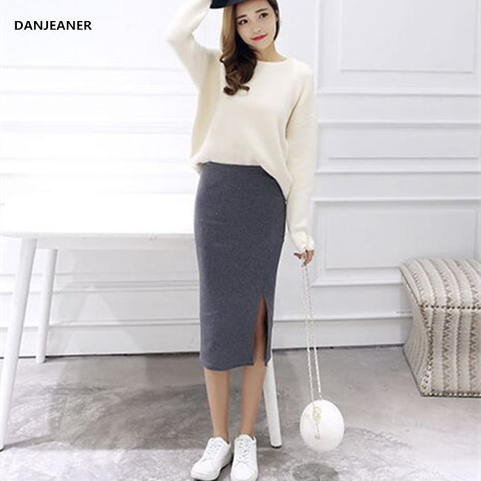 Thick Warm Knitted Skirts Offer