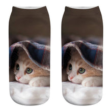 Load image into Gallery viewer, Kitty Ankle Socks