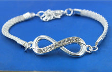 Load image into Gallery viewer, Rhinestone Infinity Bracelet Offer