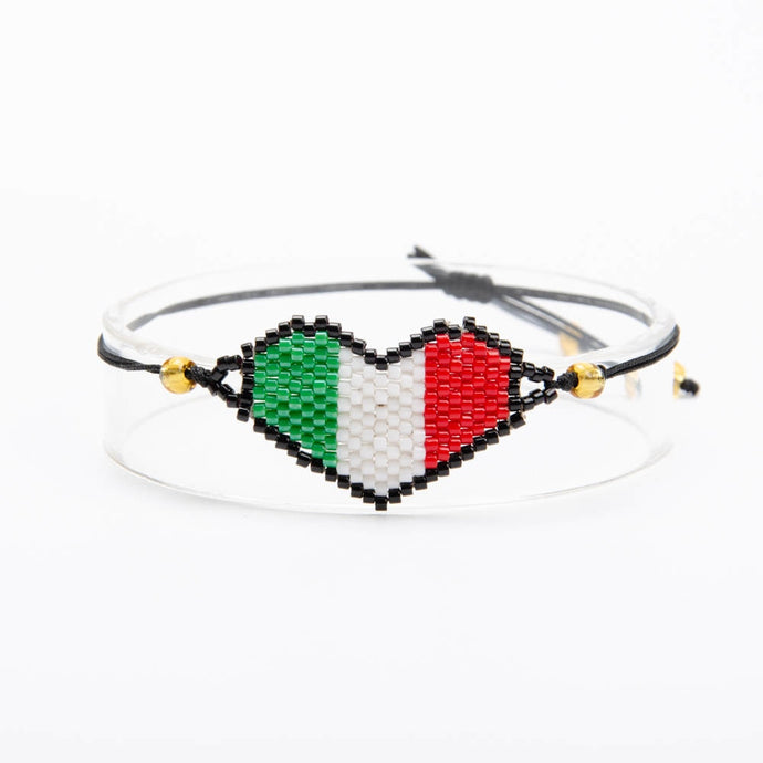 Mexico Flag Heart Bracelet Offer