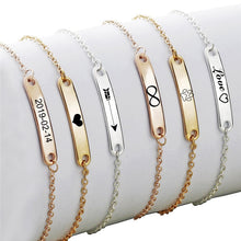 Load image into Gallery viewer, Custom Name ID Bar Bracelet Offer