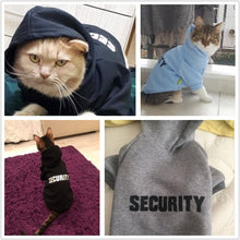 Load image into Gallery viewer, Security Cat Clothes Hoodies Offer