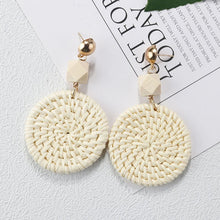 Load image into Gallery viewer, Straw Weave Vine Braid Handmade Earrings Offer