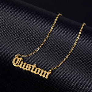 Customized Nameplate Necklaces Offer