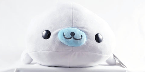 "San-x Mamegoma - White Shiroi-Goma Medium Plush (16"")"