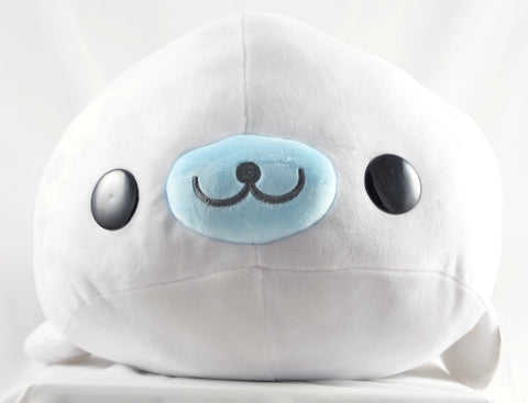 "San-x Mamegoma - White Shiroi-Goma Large Plush (22"")"
