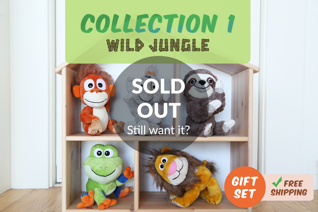 Set of 5 Wild Jungle Animoodles + Free Shipping