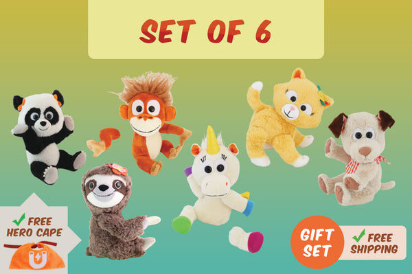 Set of 6 Animoodles + Free Hero Cape + Free Shipping