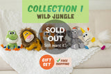 Set of 6 Wild Jungle Animoodles