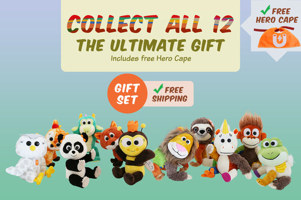 Set of 12 Animoodles + Free Hero Cape + Free Shipping
