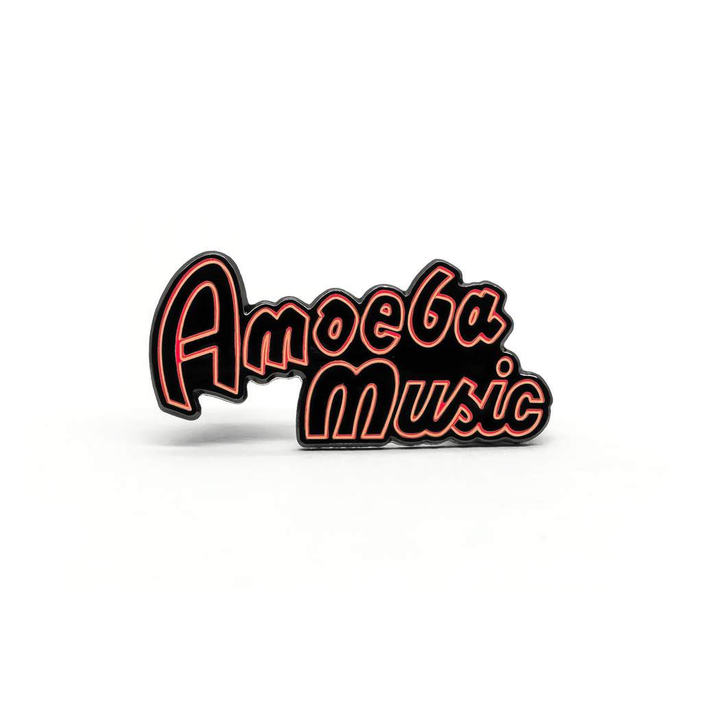 Amoeba Music Neon Sign enamel pin